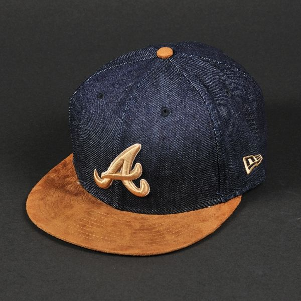 Czapka New Era Atlanta Braves Denim Suede Navy Brown