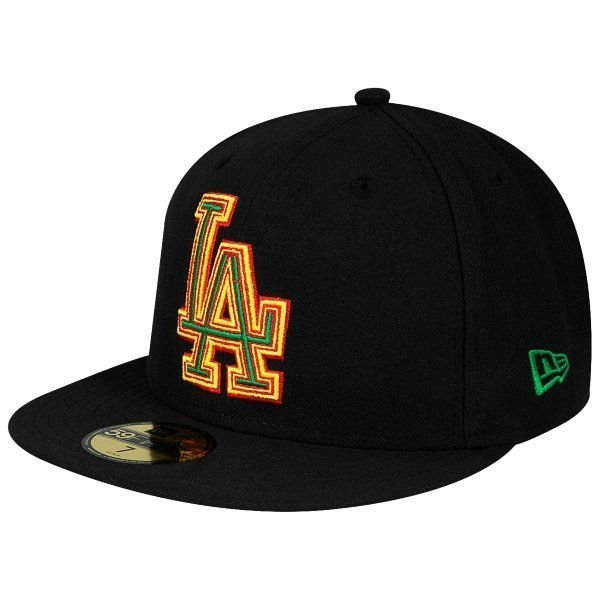 Czapka New Era Los Angeles Dodgers Four Stitch Black Scarlet