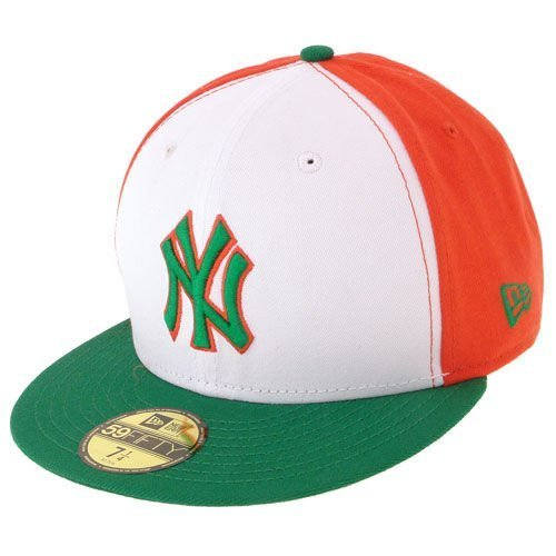 Czapka New Era NY Yankees World Block White/Orange/Kelly