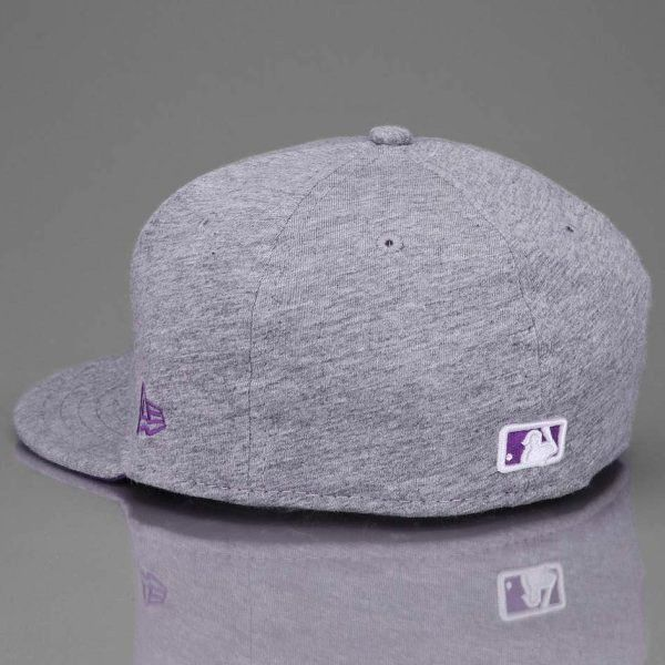 Czapka New Era New York Yankees Jersey Basic 2 Light Grey Purple
