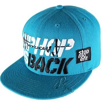 Czapka Stoprocent Fullcap HH's Hip-Hop Is Back Cyan Blue