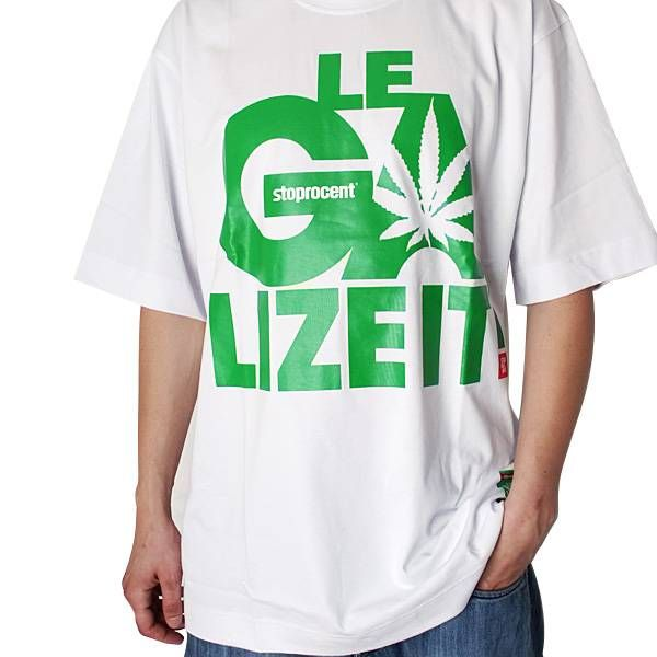 Hip Hop T Shirt Stoprocent  Legalize It