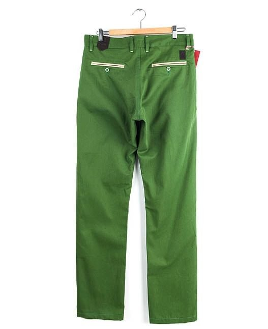 Spodnie Chinos Turbokolor Slim-fit Olive