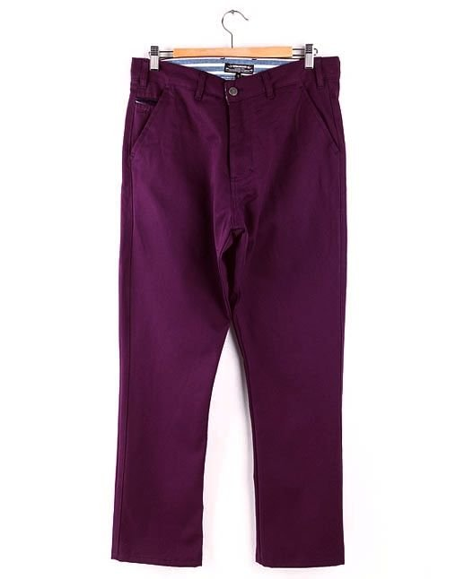 Spodnie Turbokolor Chinos Carrot Slim-fit Lila